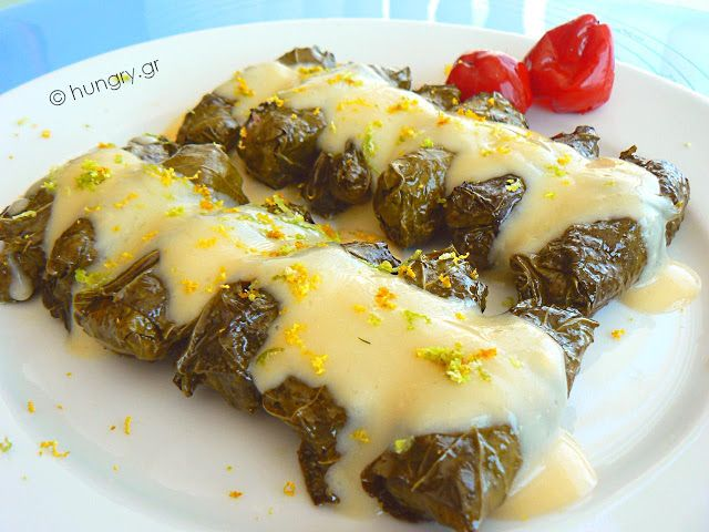 Stuffed Vine Leaves Avgolemono recipes,