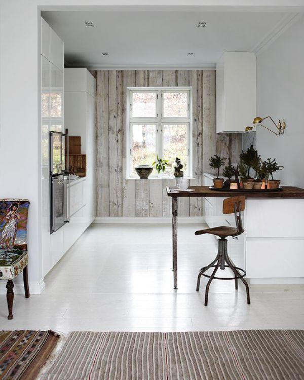 pour ou contre le papier peint dans la cuisine fils. Black Bedroom Furniture Sets. Home Design Ideas
