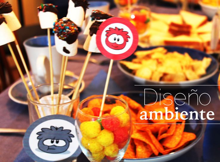 Party Birthday boy Club Penguin Ideas Puffle by Diseno Ambiente http://disenoambiente.cl/proyectos.html #puffle #Birthday #ClubPenguin #Boy