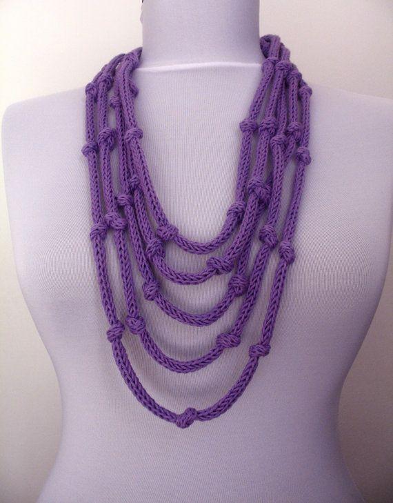 30% OFF SALE  Knit Necklace  loop infinity scarflette by DreamList