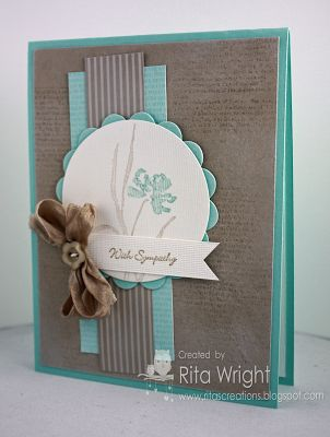 A lovely expression of Sympathy ... This is certainly a great example of saving classic stamp sets for all-year stamping needs!  Stampin Up! Love & Sympathy