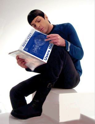 Spock reads.: