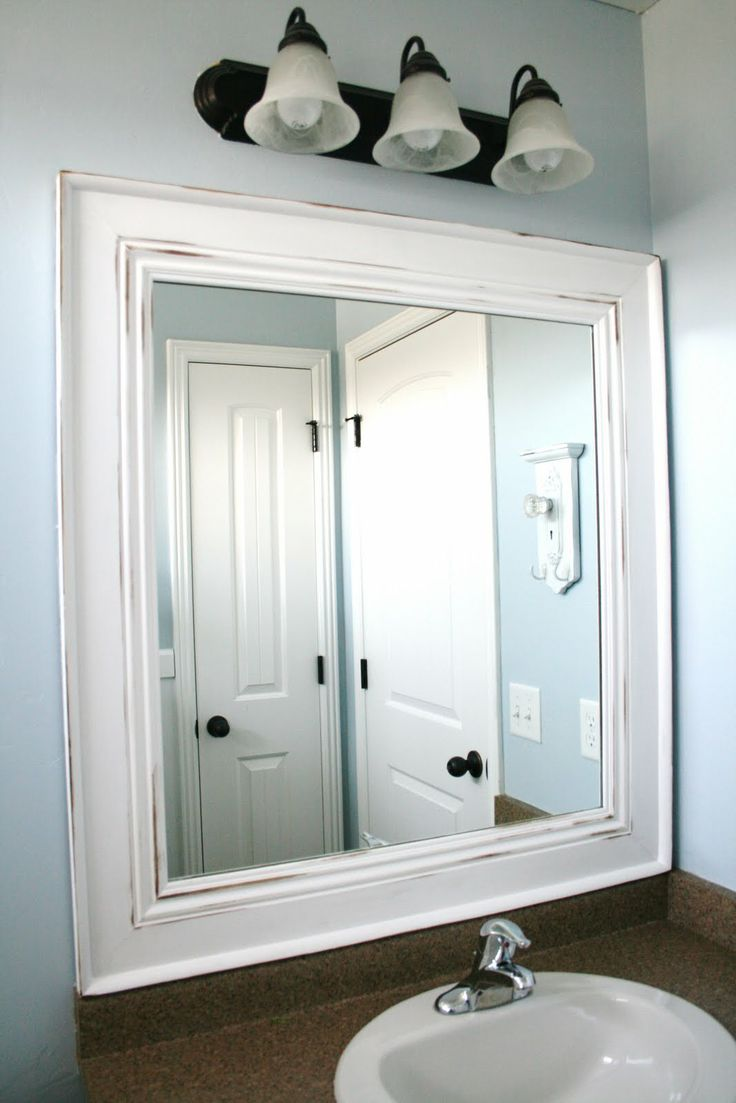 plain bathroom mirrors 1000 ideas about painted mirror frames on 13994