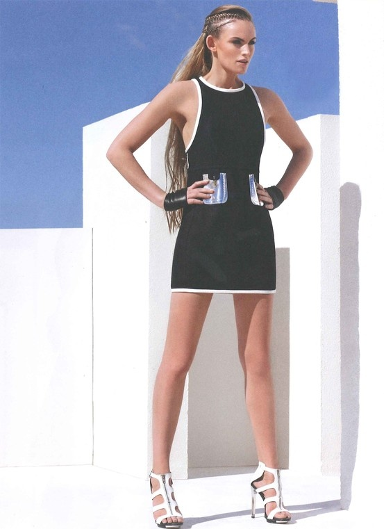FAY for WEEKEND KNACK Belgium - May 2013. Women's Spring Summer 2013 collection – Stretch piquet minidress