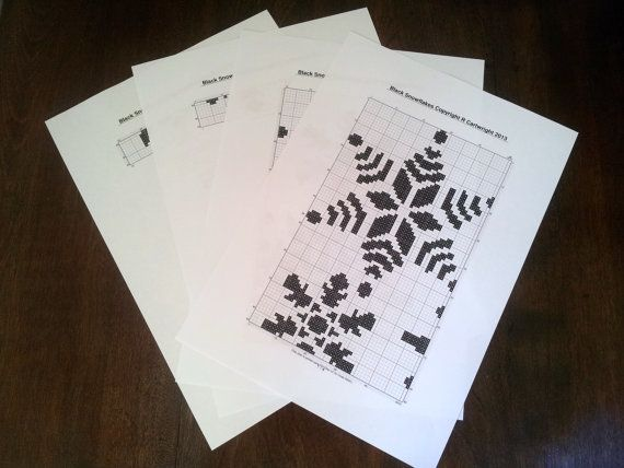 Black Christmas snowflakes digital PDF by CraftwithCartwright £3.60