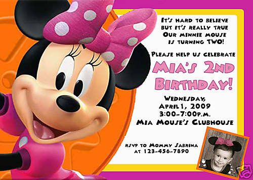 Download Now Minnie Mouse Birthday Invitations Personalized