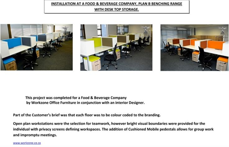 Installation at a food & beverage Co. in conjunction with Interior Designer.