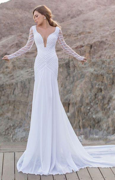 Свадебные платья Julie Vino с рукавами | смотреть фото цены купить