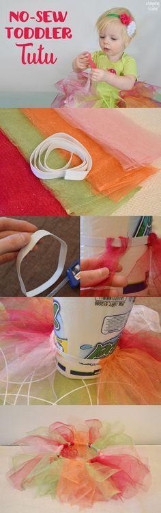Easy DIY No-Sew Toddler Tutu