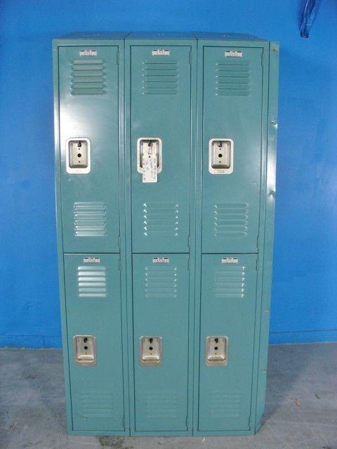 6 compartment School slope style LYON lockers #Lyon