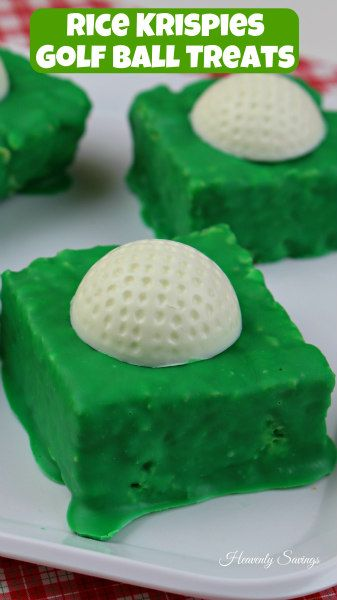 Rice Krispies Golf Ball Treats! I am excited for Fathers Day this year. Not only is my little brother getting married that week but for the first time in a long, long time all of my brothers and I ...