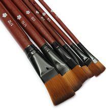6 unids/lote Mejor Precio Nylon Acrílico Acuarela Pintura Dibujo Pen Brush Set De útiles Escolares Estudiante de Artista(China (Mainland))