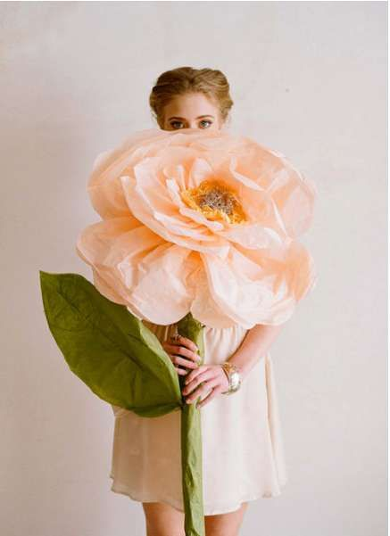 Oversized Flower Ornaments - These Duitang DIY Blossoms are Wonderfully Surreal Room Accents (GALLERY)
