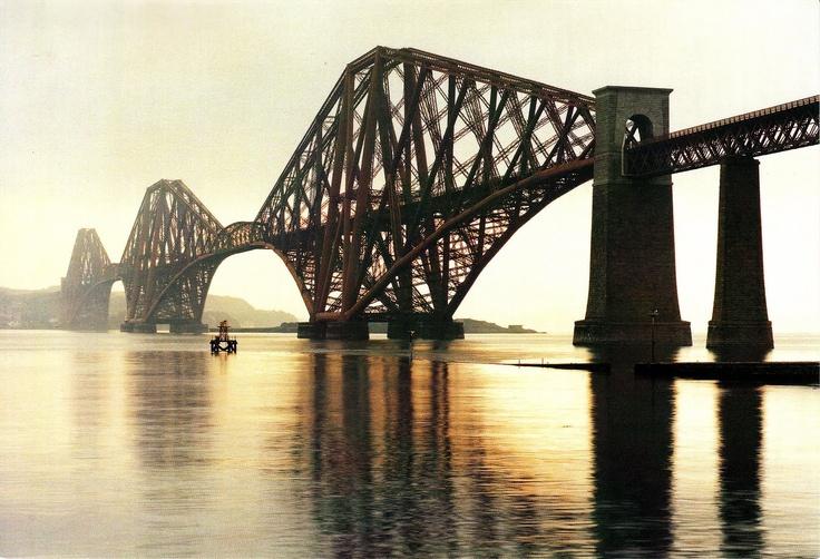 Forth Bridge - Firth of Forth – Scotland - last pre-suspension era cantilever bridge - 8,296 ft span - 1890