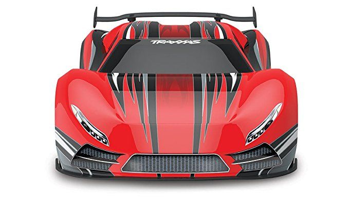 Traxxas Xo 1 1 7 Scale Awd Supercar With Tqi 2 4ghz Radio System Tsm Red Super Cars Traxxas Awd