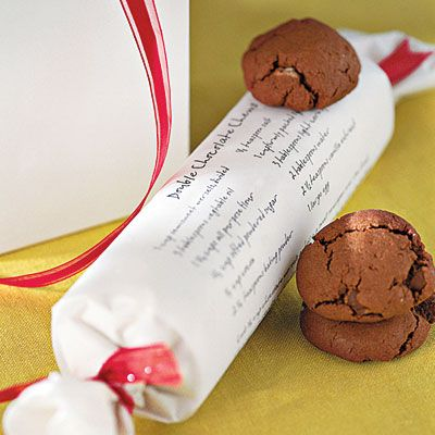 A roll of cookies with recipe. Cool Christmas gift.