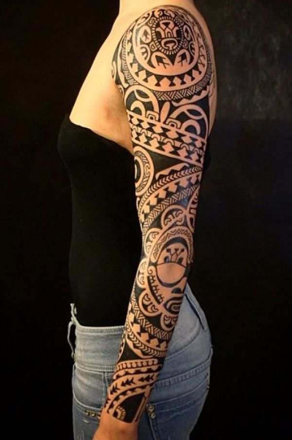 Marquesan Full Sleeve Tattoo Design Sleeve Tattoos Marquesan Tattoos Tattoo Sleeve Designs