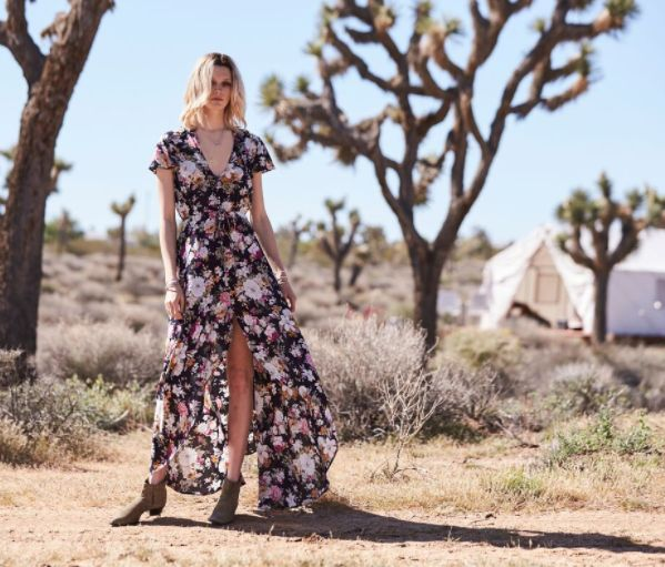 Auguste - Dusk Maxi Dress Dusky Blooms Natural