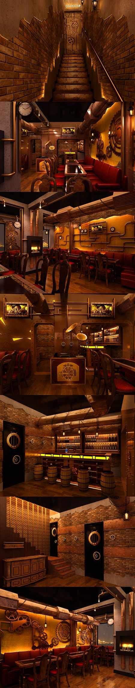 Steam punk restaurant  Techeblog.com