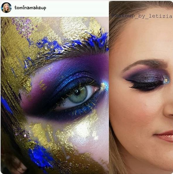 My recreation of the amazing Tomina Makeup's blue and purple eye @makeup_by_letizia
