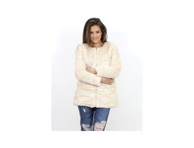 Palton Blană Artificială cu Fermoar - Jachete & Paltoane - Famevogue  #palton #stil #moda #haine #fashion #trends #coat