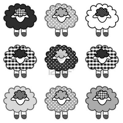 sheep  collection of pattern, from sheep to fashion