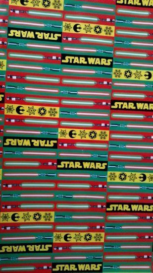 Star Wars Christmas Birthday Wrapping Paper Lightsaber Gift Wrap 70 Sq Ft