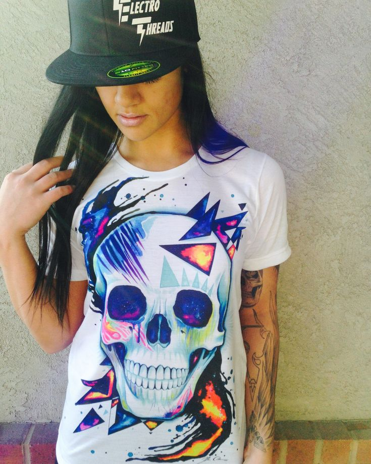 """Introducing our New """"Space Skull"""" Crew-Neck! Life changing hand drawn art from…"""