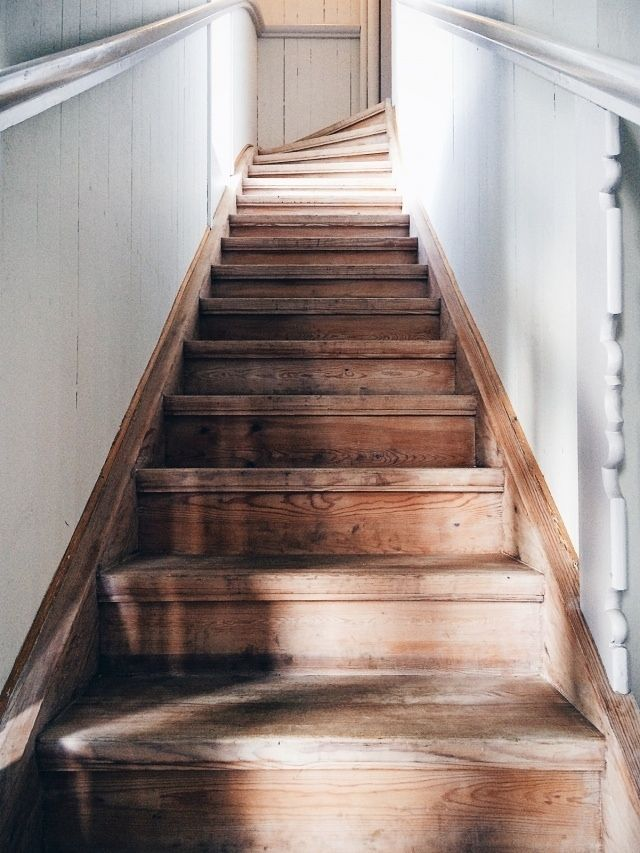 Perfect wooden staircase