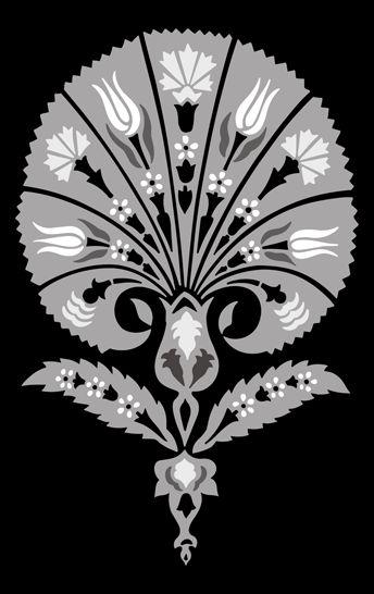 Click to see the actual OTT51 - Palmette No 2 stencil design.