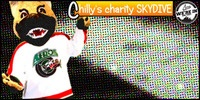 Chilly will skydive for charity but only with your help! Visit www.aeros.com for more info!