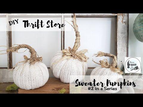 Thrift Store/Dollar Store Sweater Pumpkin #2! – Yo…
