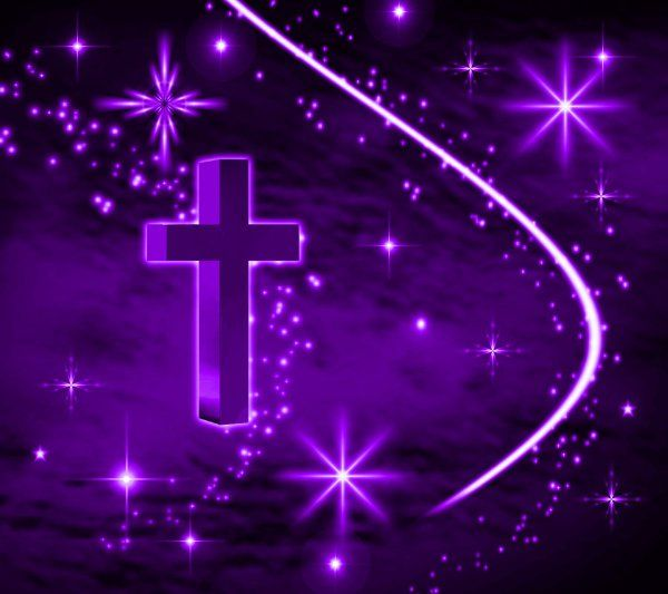 free stars animated graphics | ... Wallpaper Image: Purple Cross With Stars Background 1800x1600