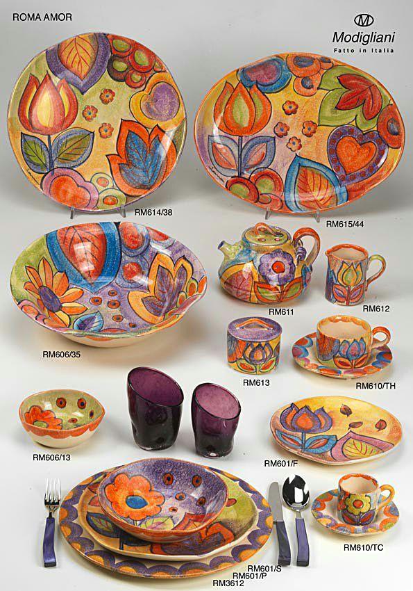 Modigliani Italian Ceramic ROMA AMOR,roma,ceramiche italiane,liste di nozze,via condotti,roma,lista dei regali, ceramica italiana