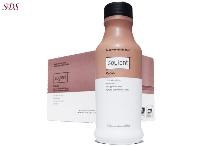 Soylent Meal Replacement Drink Cacao 14 Fl Oz 12 Pack Nutritionally Complete NEW | Health & Beauty, Vitamins & Dietary Supplements, Energy Bars, Shakes & Drinks | eBay!