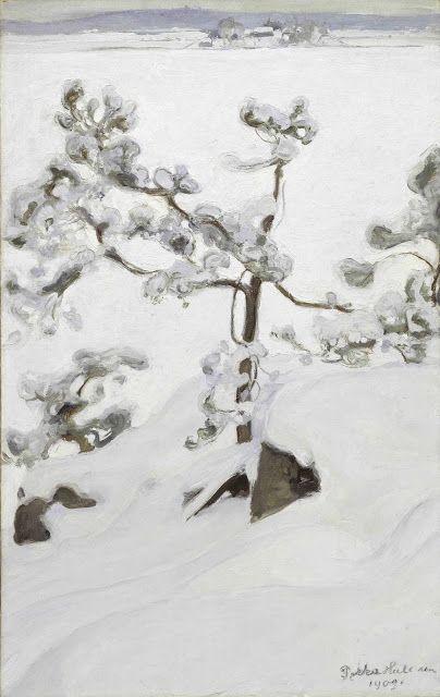 Pekka Halonen (1865-1933), Pin dans la Neige - 1903