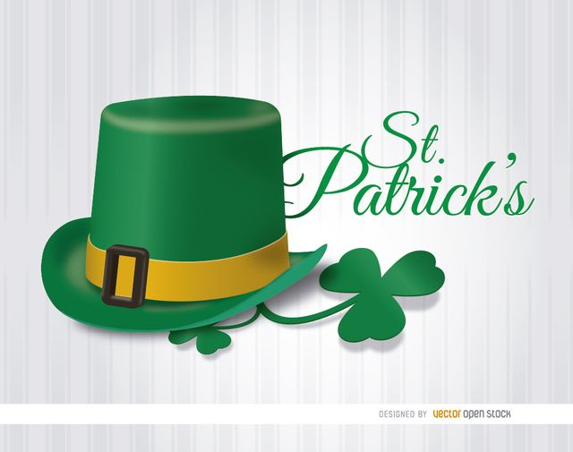 This is a cool wallpaper to celebrate St. Patrick's Day, it shows the traditional green hat with a shamrock beside and a white backdrop with vertical stripes behind. It is perfect for using in cards and promos and sending your best wishes to customers and friends. High quality JPG included. Under Commons 4.0. Attribution License.