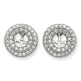 14k White Gold 1 Carat Diamond Earring Jackets Bijou. $1336.21