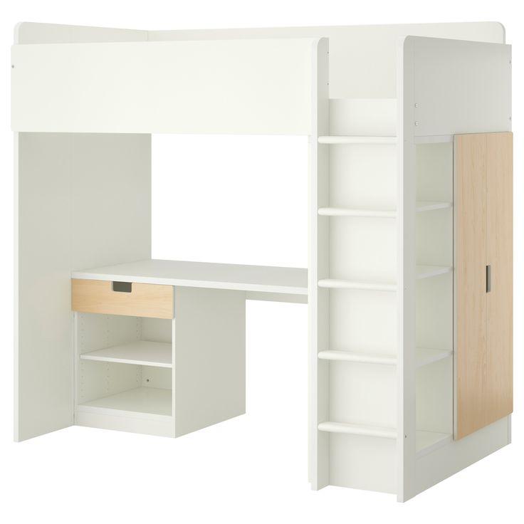 Die besten 25+ Ikea hochbett birke Ideen auf Pinterest Ikea - hochbett mit schreibtisch 2