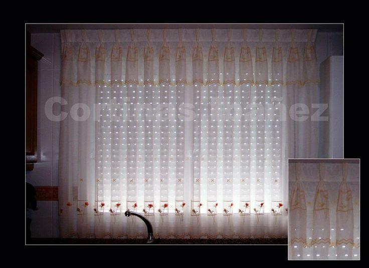 Mejores 46 im genes de cortinajes para ventanas en - Visillos cocina confeccionados ...
