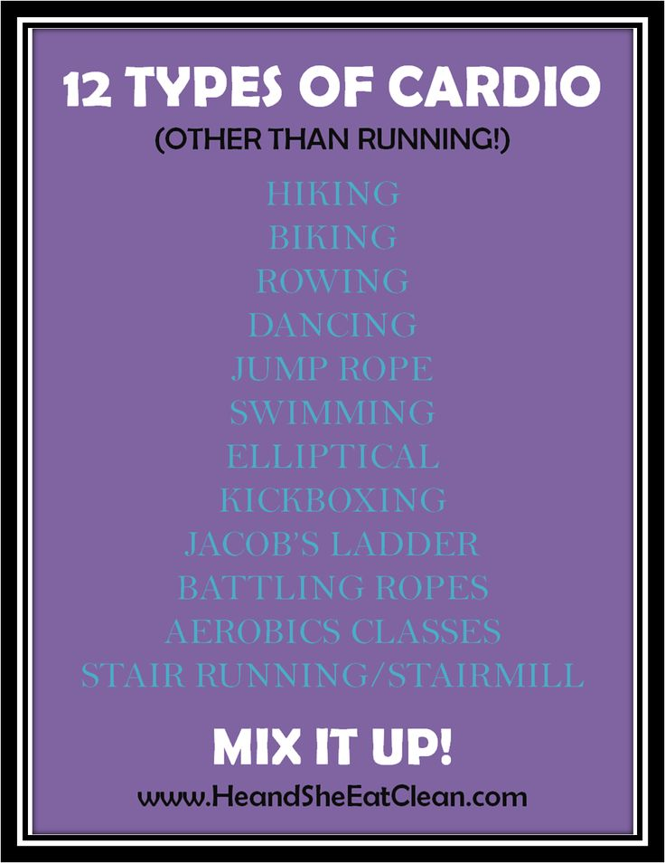 Tired of your same old cardio routine? Mix things up! Use this list to find a new favorite!