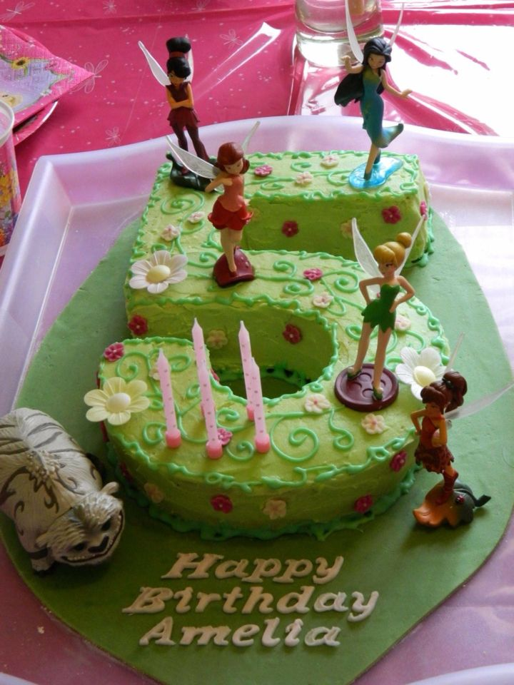 Tinkerbell and the legend of the neverbeast 5th birthday cake.