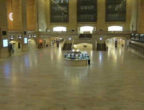 Empty Grand Central Terminal ahead of Hurricane Sandy's arrival. Oct 28, 2012.