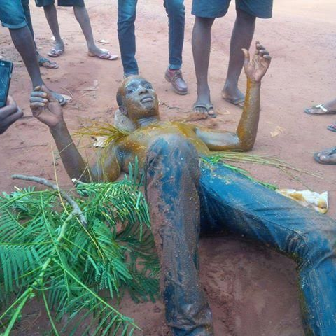 See What They Did To A Guy After He Graduated From Kogi State University (Photos) - http://www.77evenbusiness.com/see-what-they-did-to-a-guy-after-he-graduated-from-kogi-state-university-photos/