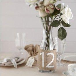 Numeri per Tavoli Matrimonio in Juta-14,90 € http://www.decochic.it/it/matrimonio-country-chic/1299-numeri-per-tavoli-matrimonio-in-juta-5060303702488.html