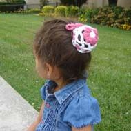 Flower Bun Cover - easy to make and it looks great!