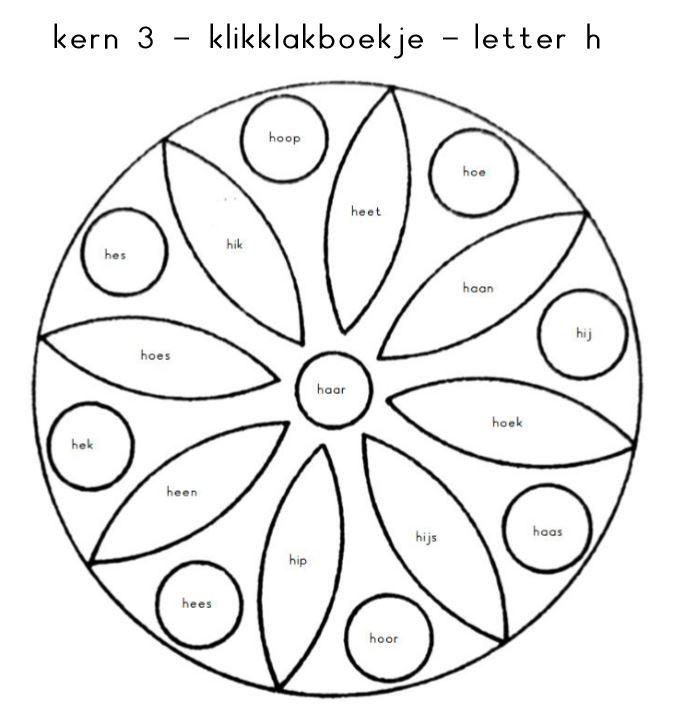 Kern 3 - klikklakboekje - letter h