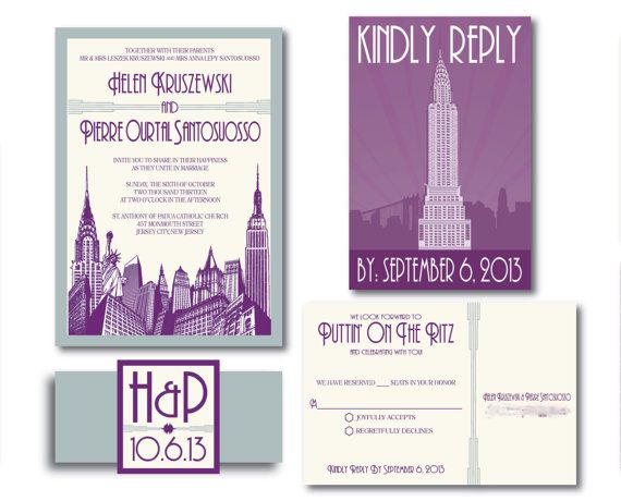 99461e896e85197ef9a02692d1fad129 wedding themes cityscapes 64 best images about new york wedding theme on pinterest,Invitations New York