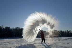 Water Is a Much Weirder Molecule Than You Think: You Can Make Instant Snow from Boiling Water