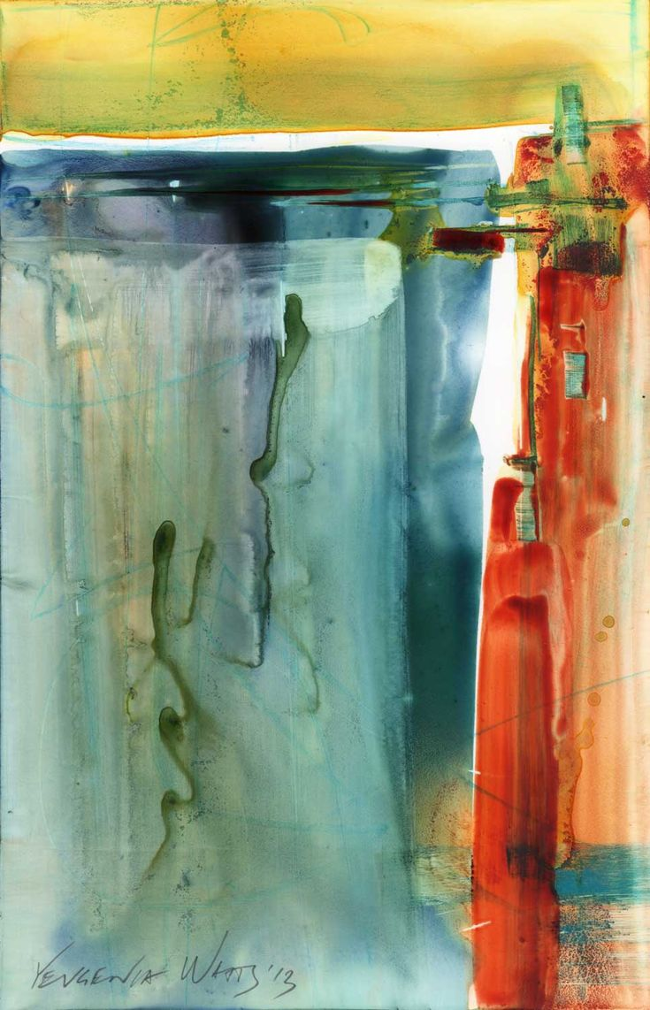 Watercolor artists directory wiki - Untitled 9 25 X 6 Watercolor And Nupastel On Yupo